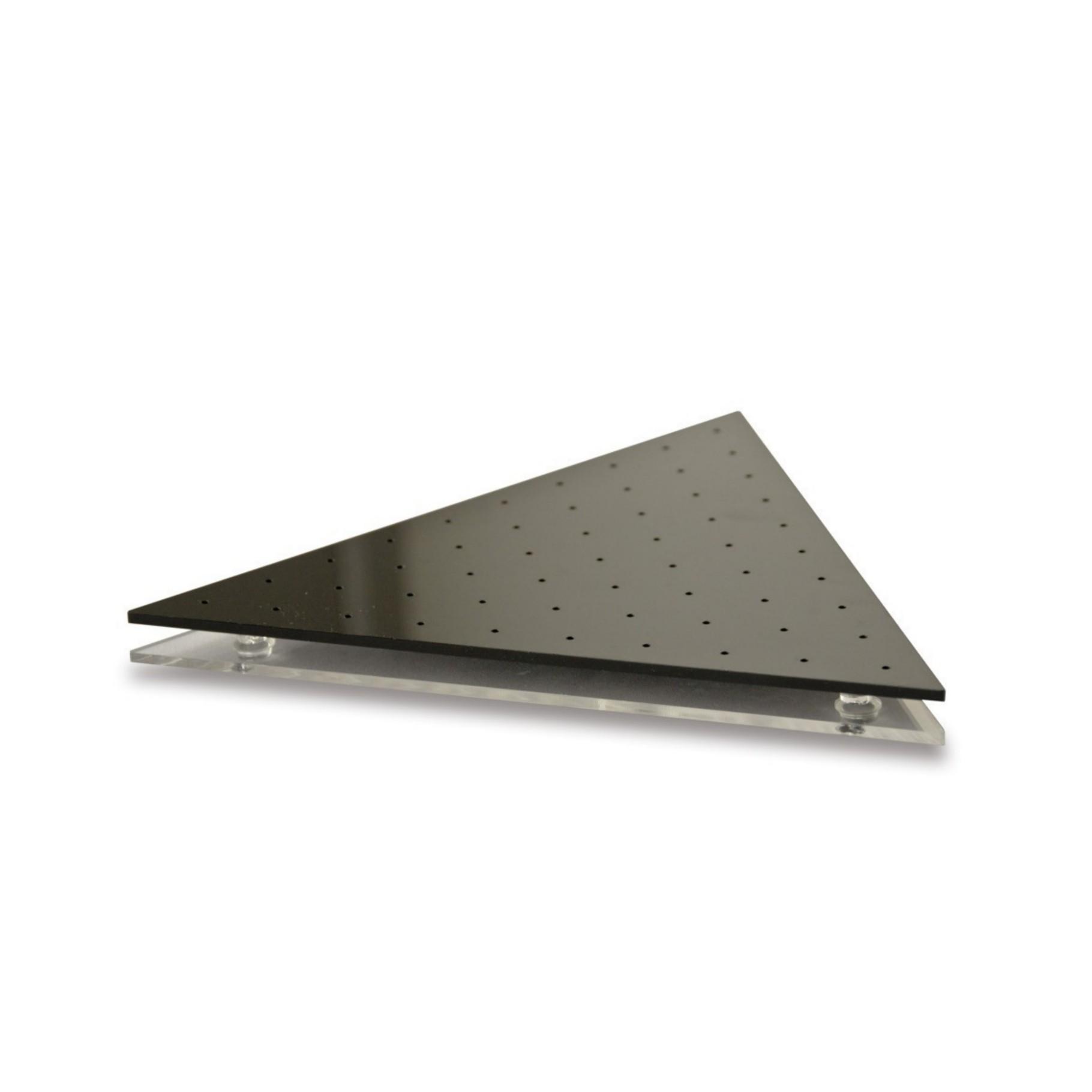 Stojan prezentační trojúhelník 28 pozic, černý
