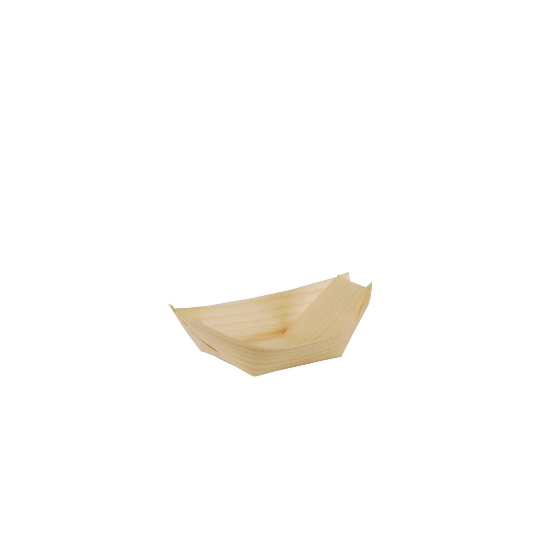 Miska lodička bambus S, balení 50ks