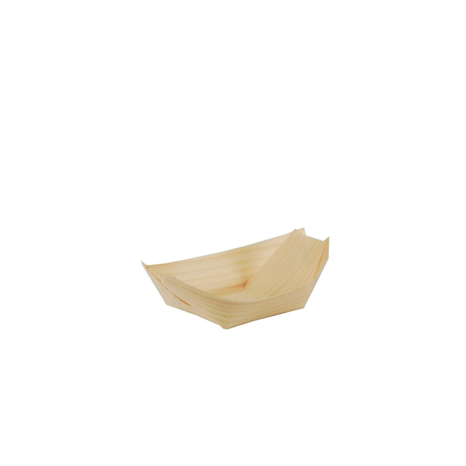 Miska lodička bambus M, balení 50ks