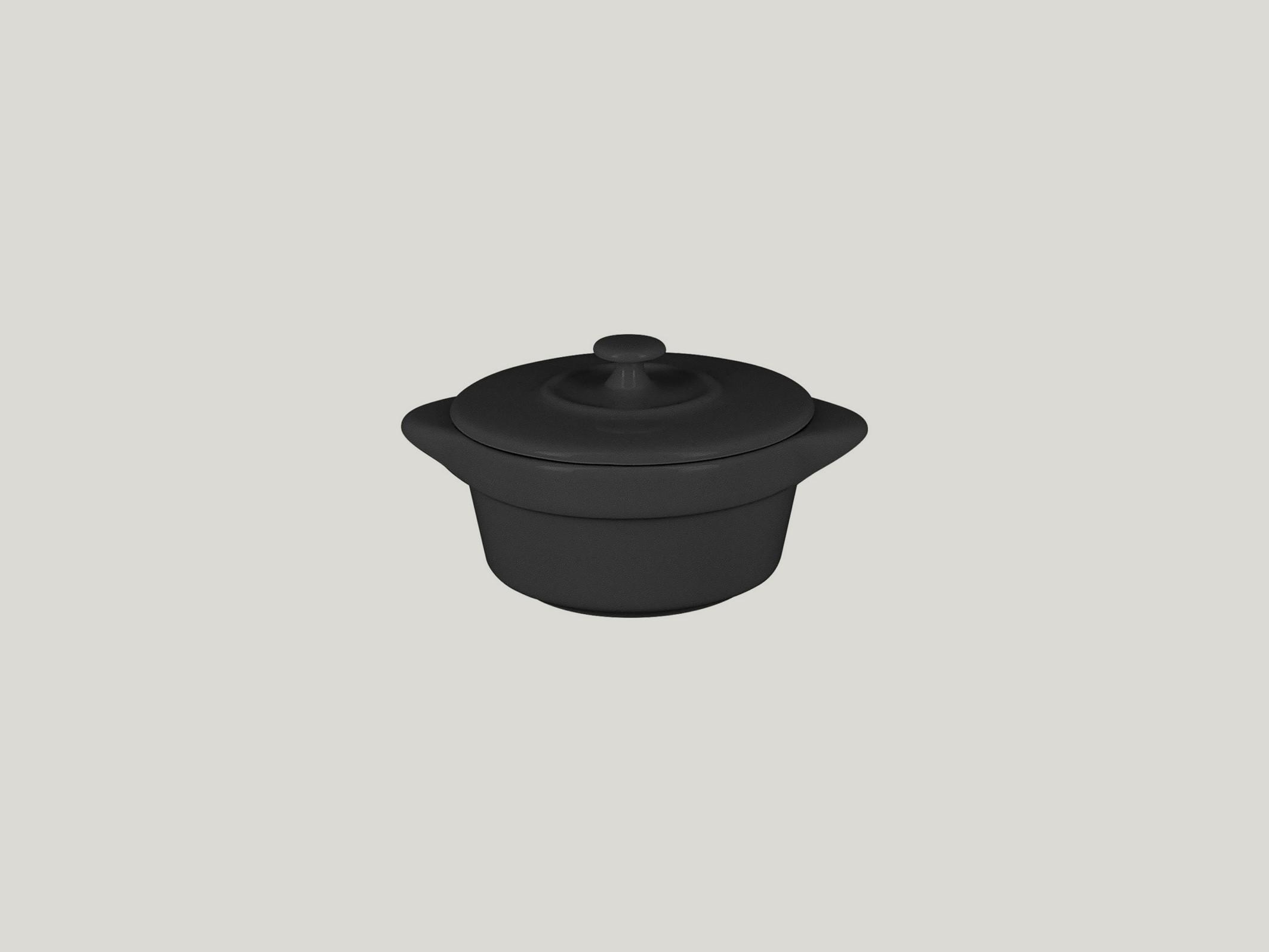 Chefś Fusion Hrnec s pokličkou, pr. 8,5 cm , černý