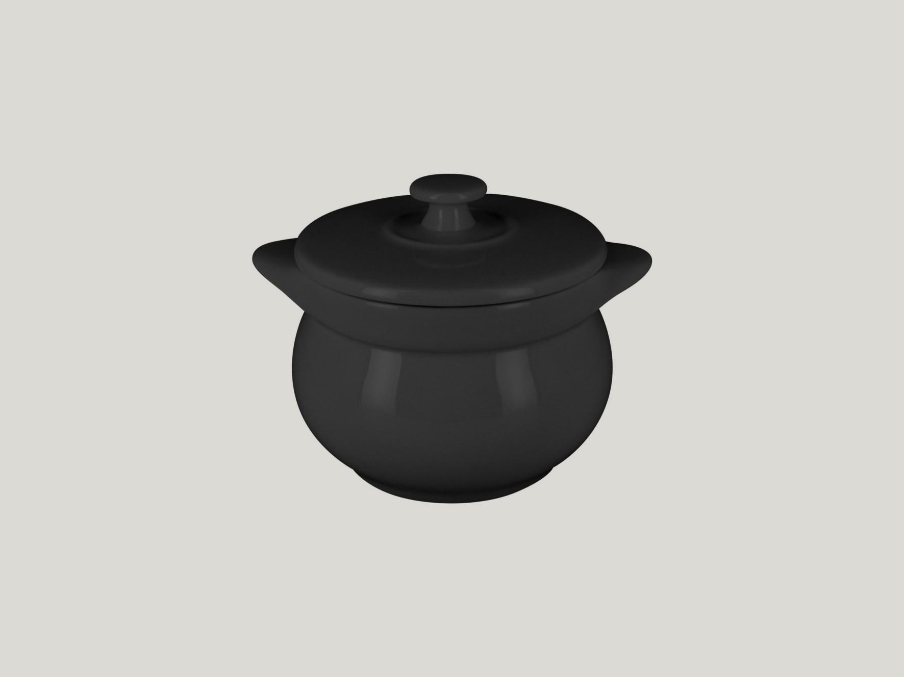 Chefś Fusion mísa na polévku s poklicí černá