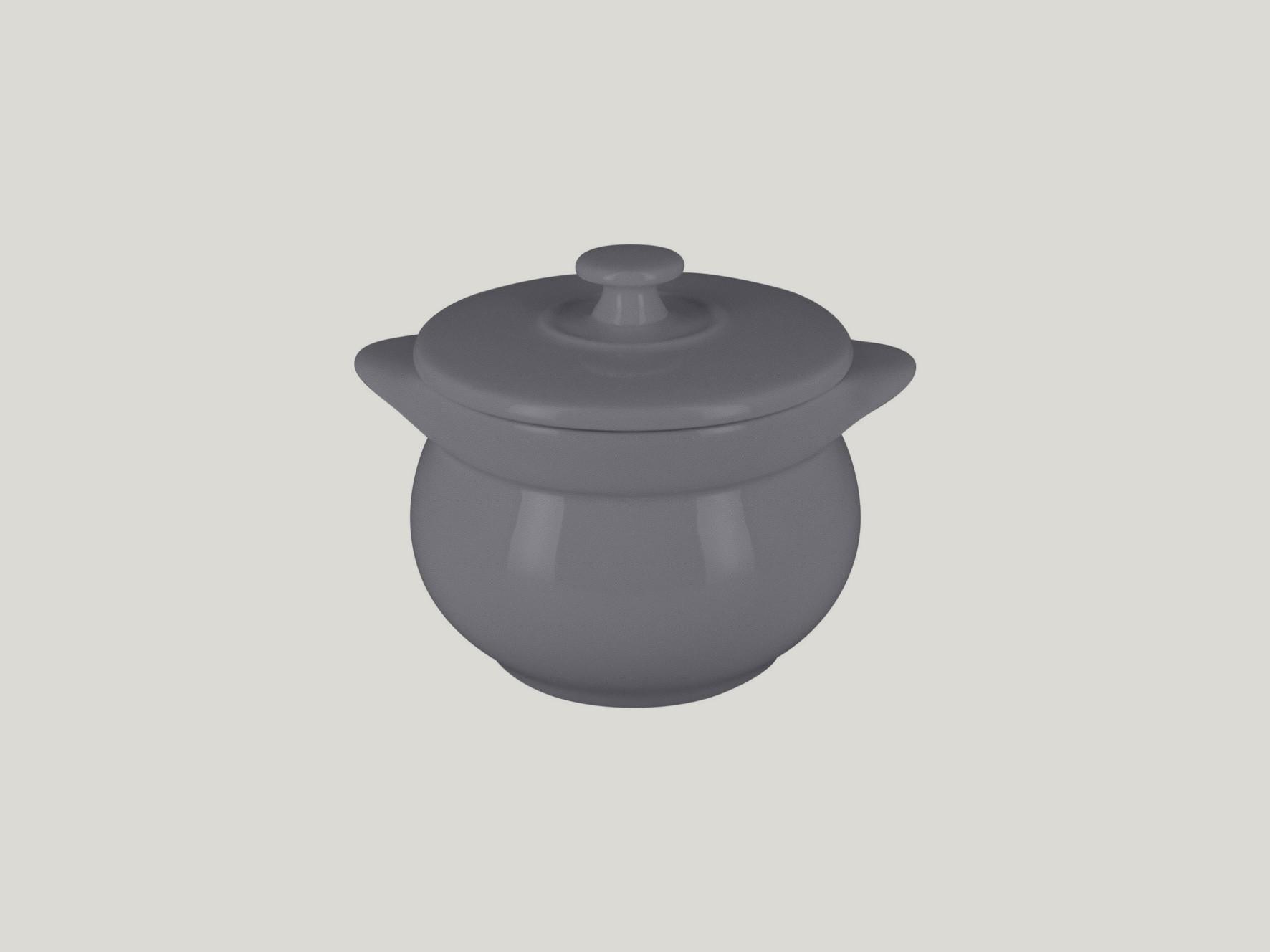 Chefś Fusion mísa na polévku s poklicí šedá