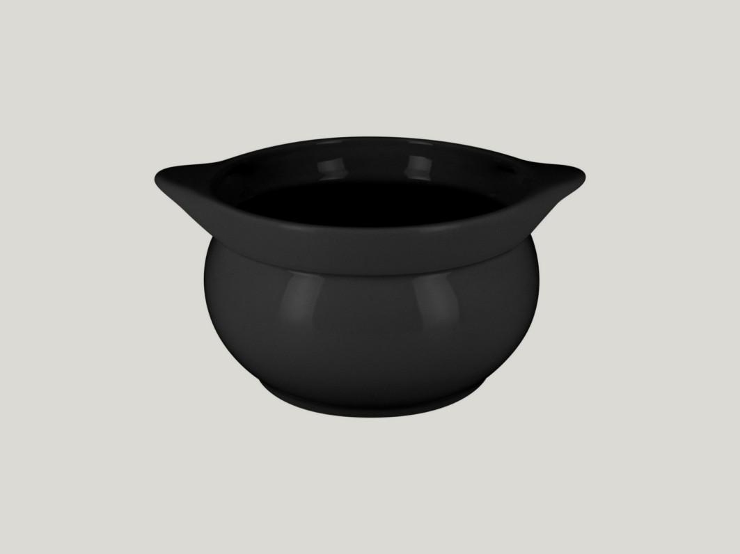 Chefś Fusion mísa na polévku černá pr.15cm
