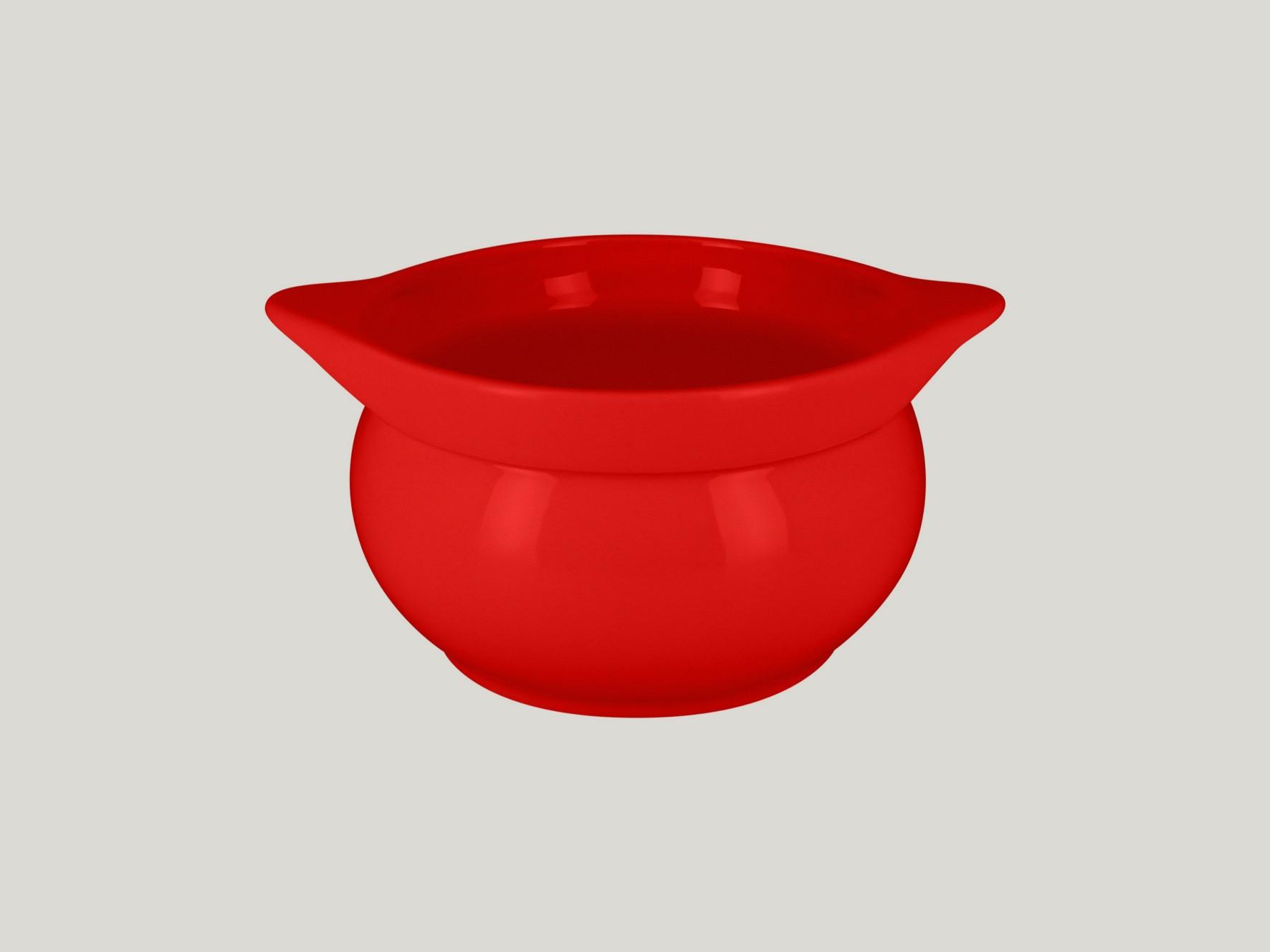 Chefś Fusion mísa na polévku červená pr.15cm