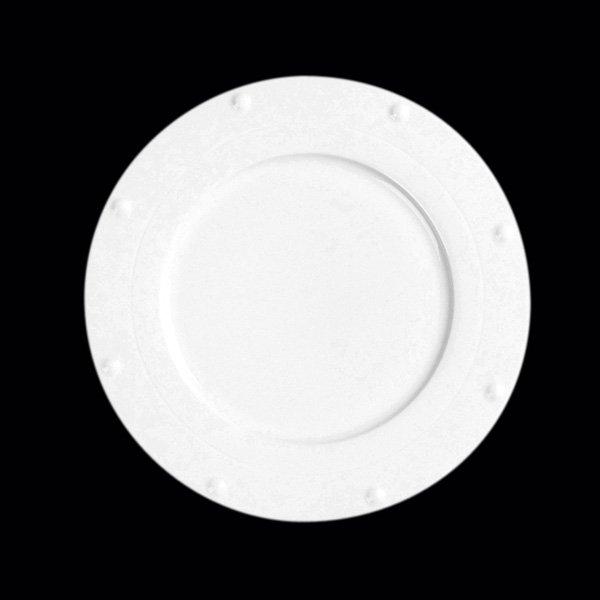 Kulatý talíř - Queen White gold