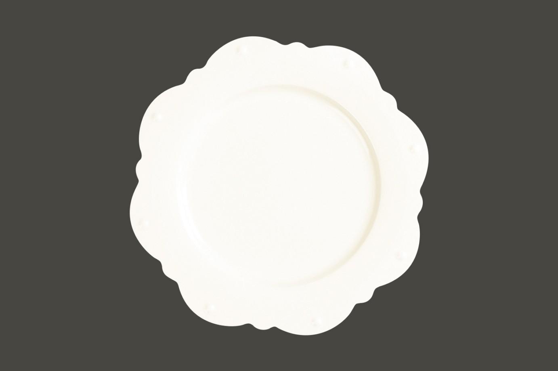Princess White gold Scallop mělký  talíř pr. 33cm
