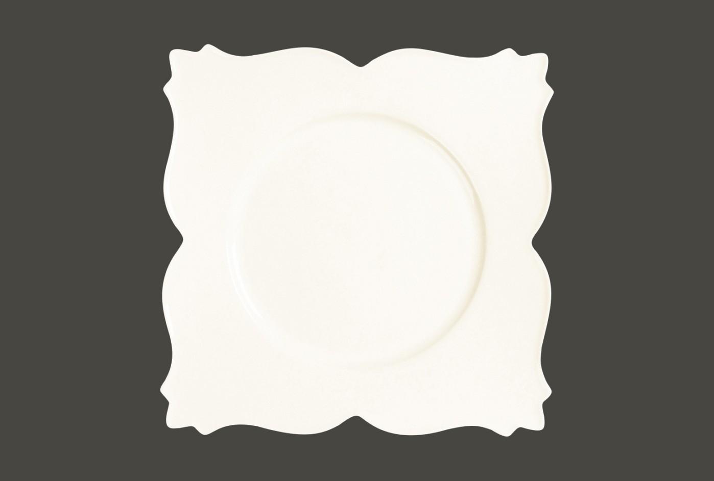 Čtvercový talíř - King White gold