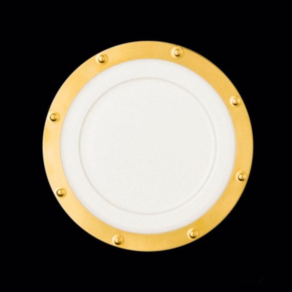 Queen Golden mělký talíř pr. 16cm