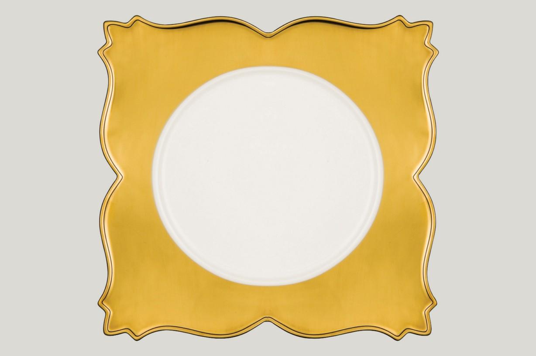 Čtvercový talíř - King Golden Golden