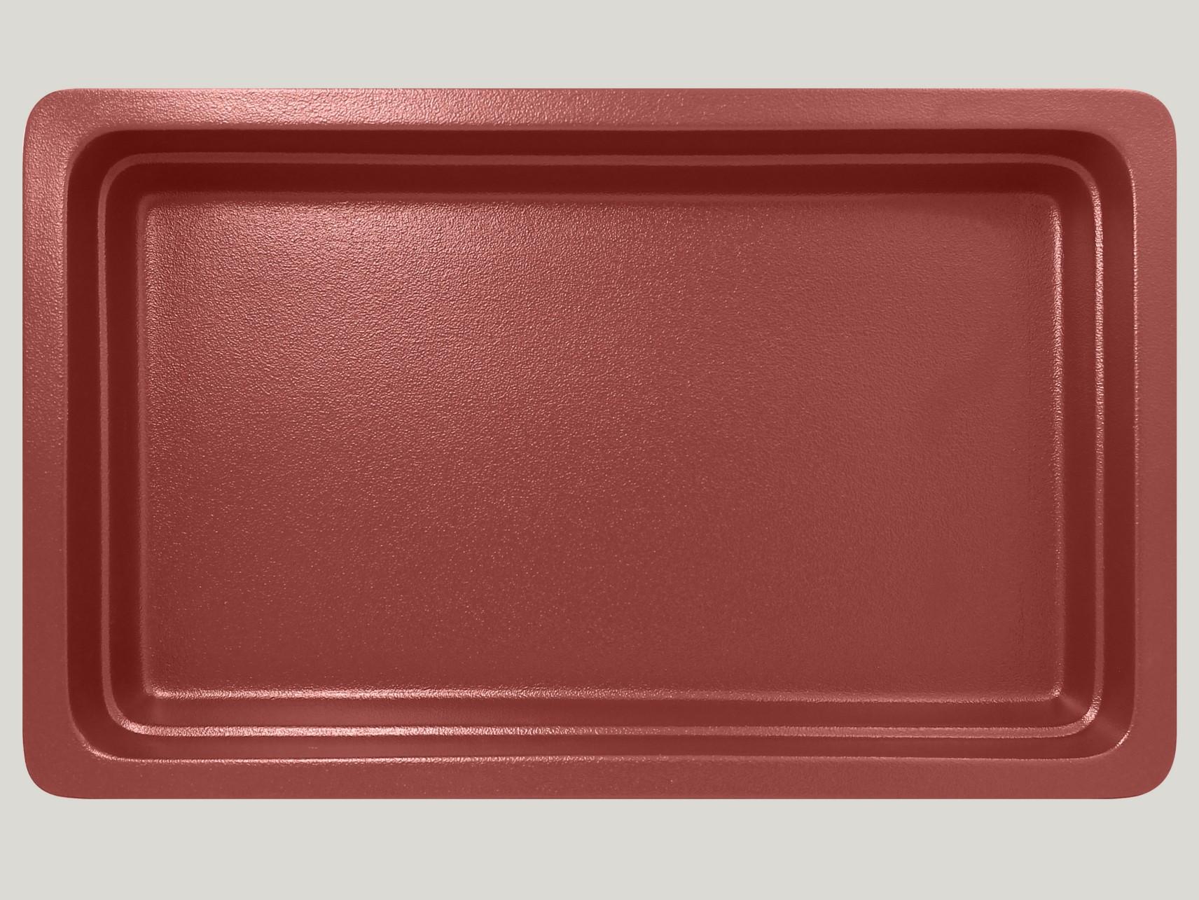 Gastronádoba GN 1/1 065 mm - tmavě červená