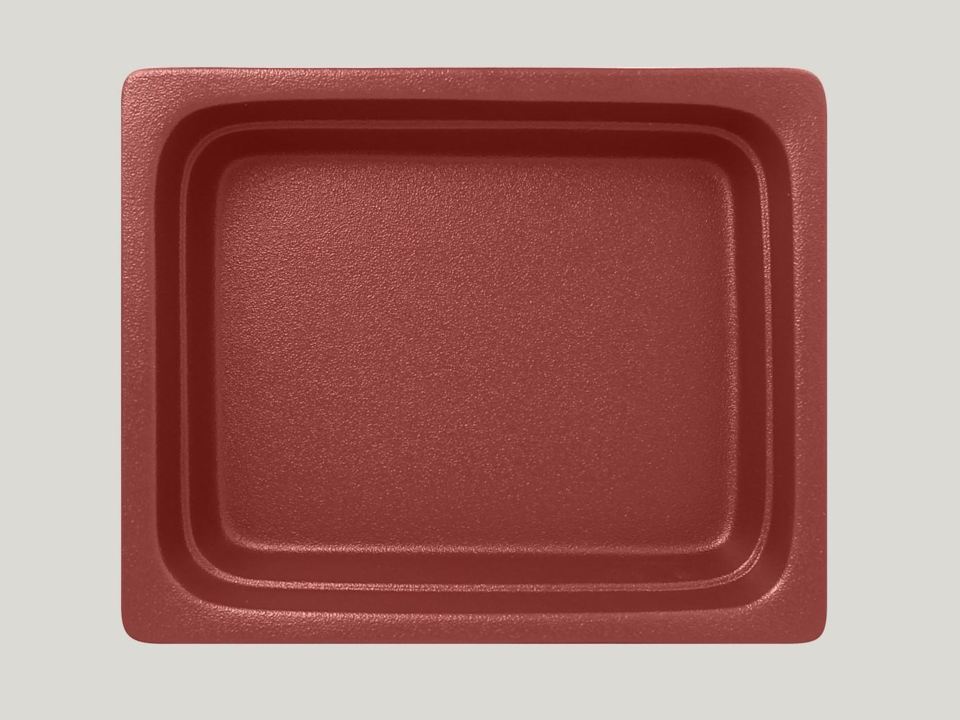 Gastronádoba GN 1/2 065 mm - tmavě červená