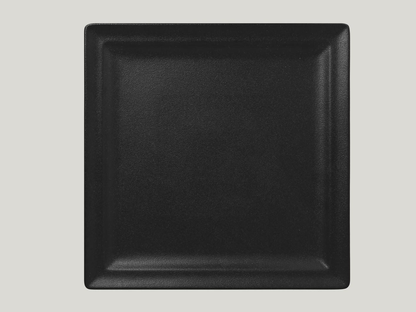 Čtvercový mělký talíř - černá Neofusion