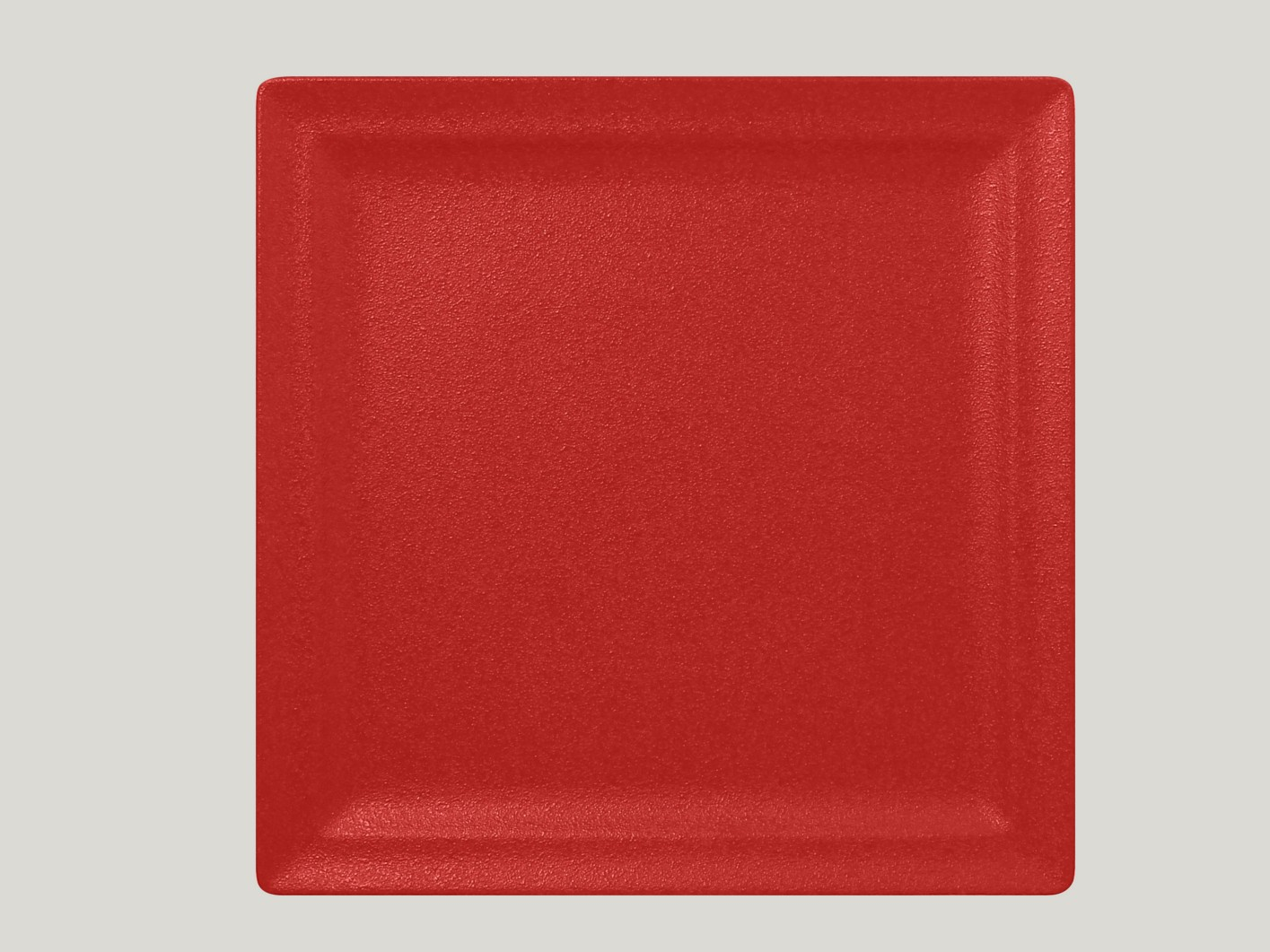 Čtvercový mělký talíř - světle červená Neofusion