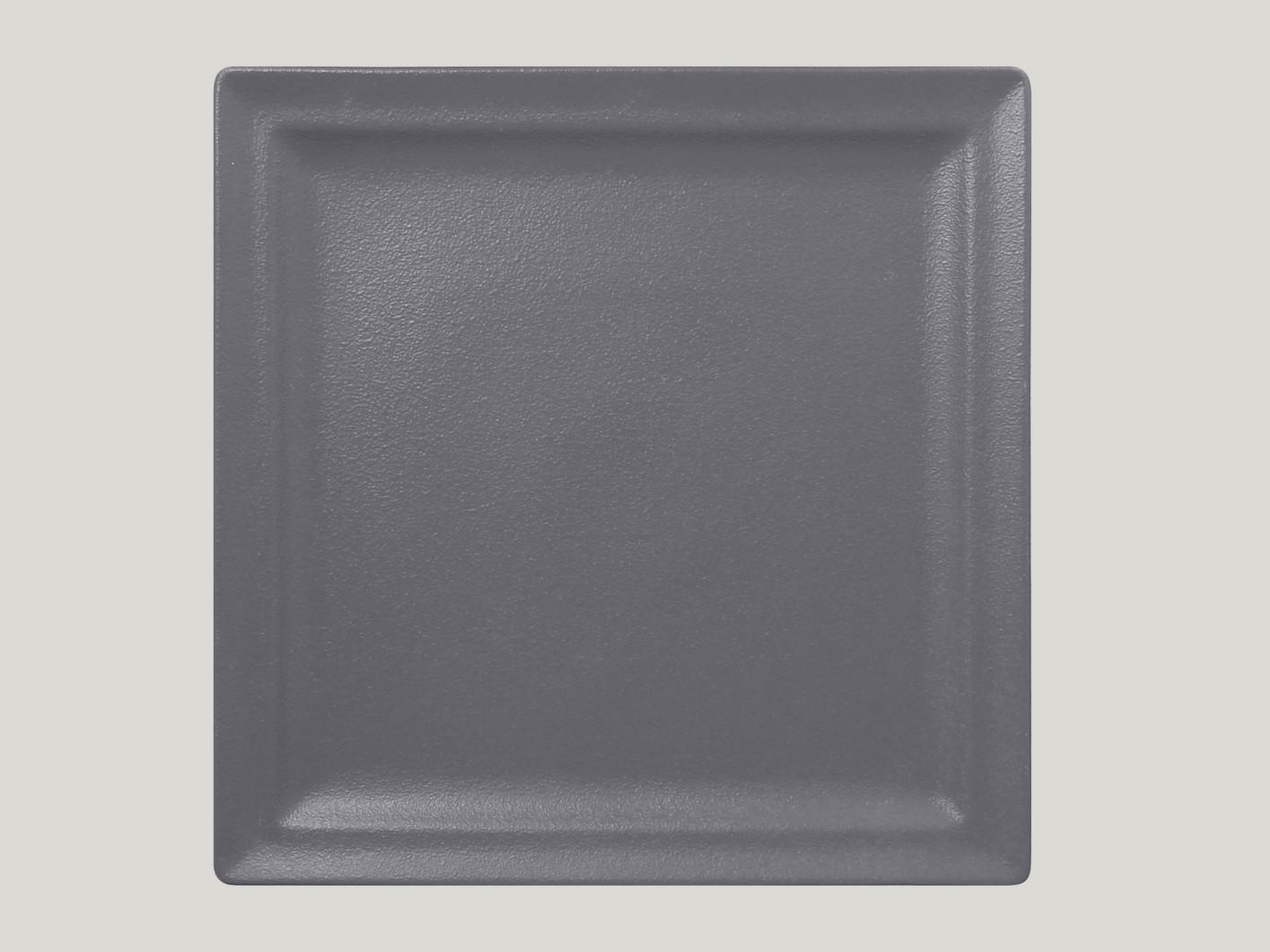 Čtvercový mělký talíř - šedá Neofusion