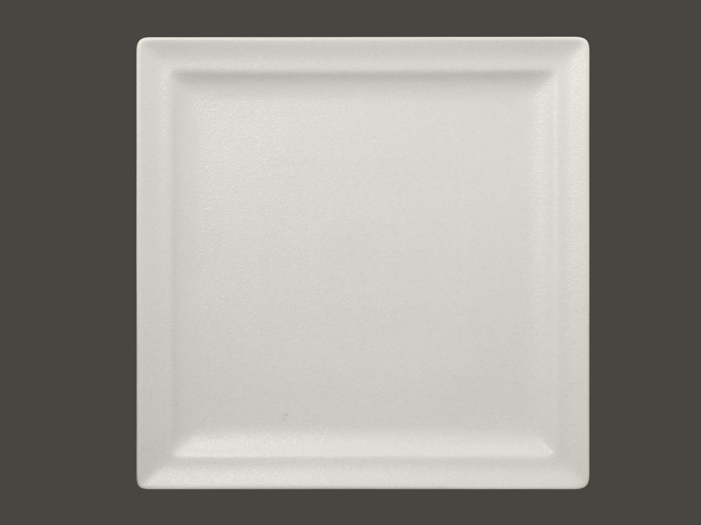 Čtvercový mělký talíř - bílá Neofusion