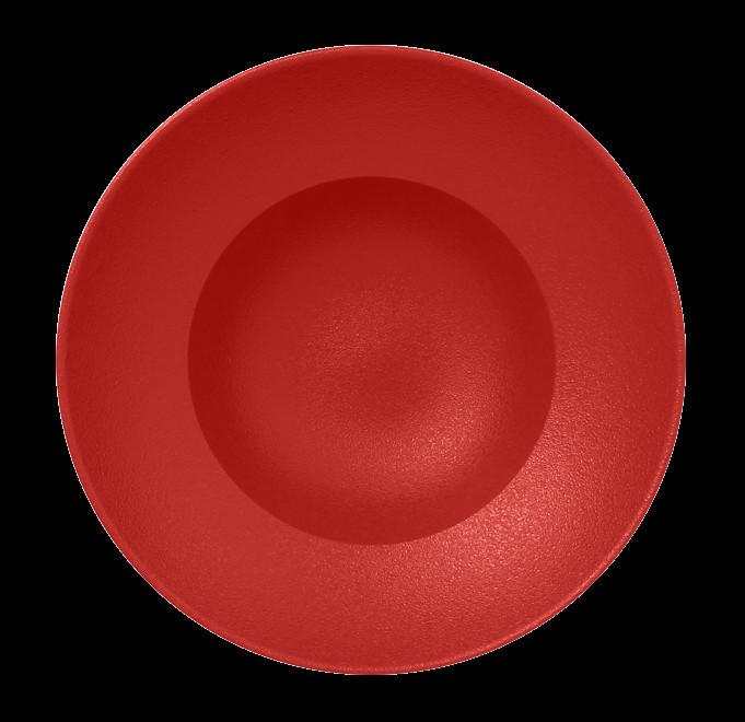 Extra hluboký Kulatý talíř - světle červená Neofusion