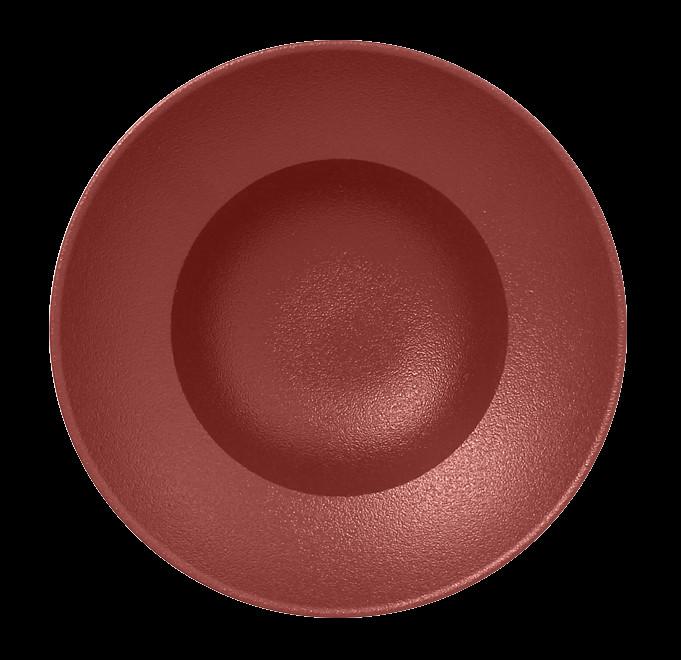 Extra hluboký Kulatý talíř - tmavě červená Neofusion