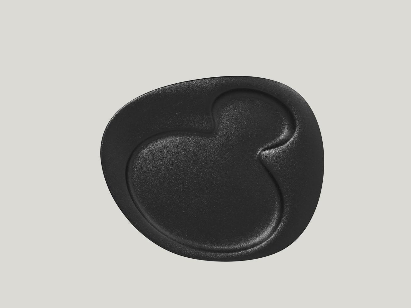 Breakfast talíř - 2 basins - černá Neofusion