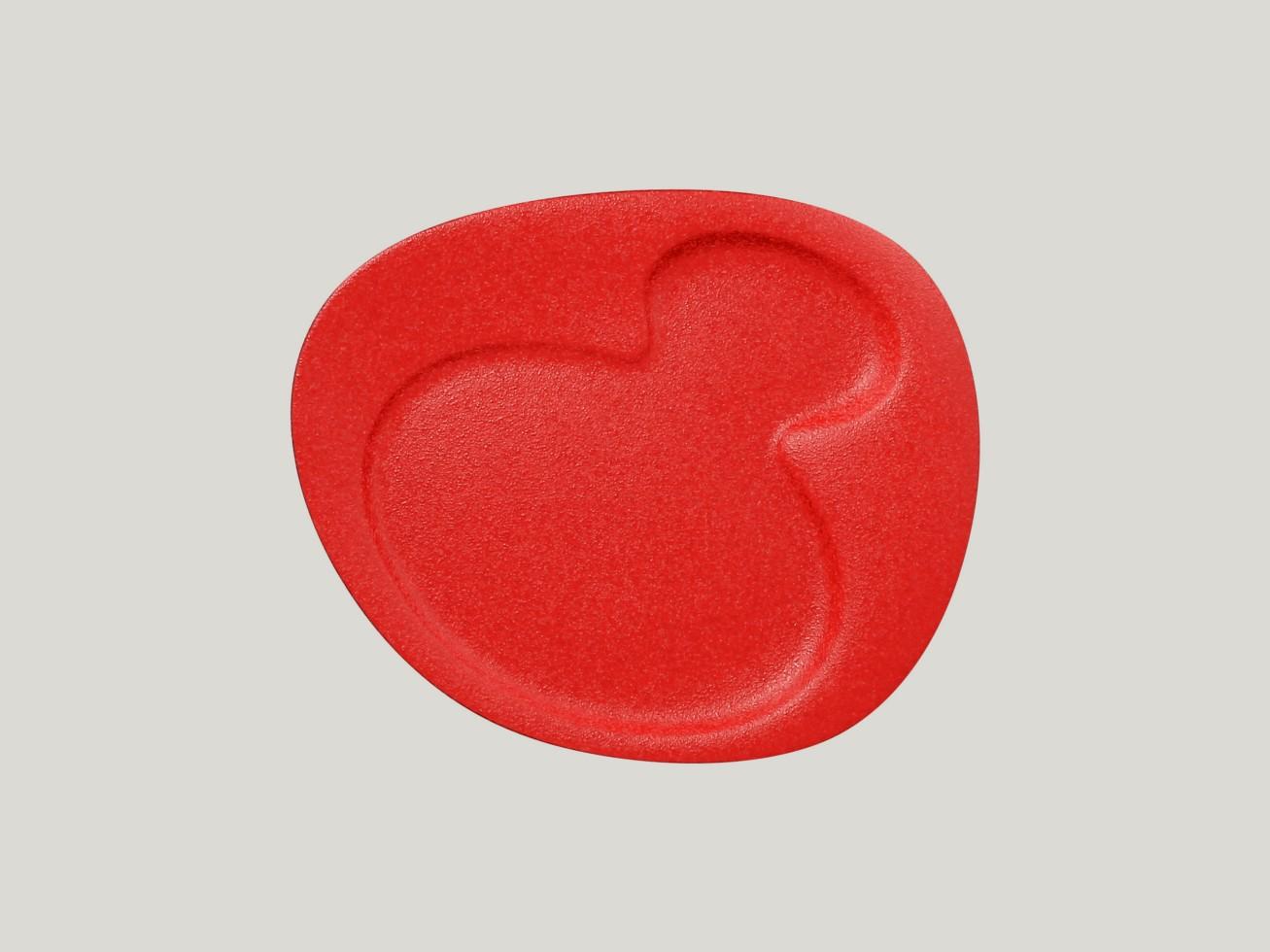 Breakfast talíř - 2 basins - světle červená Neofusion