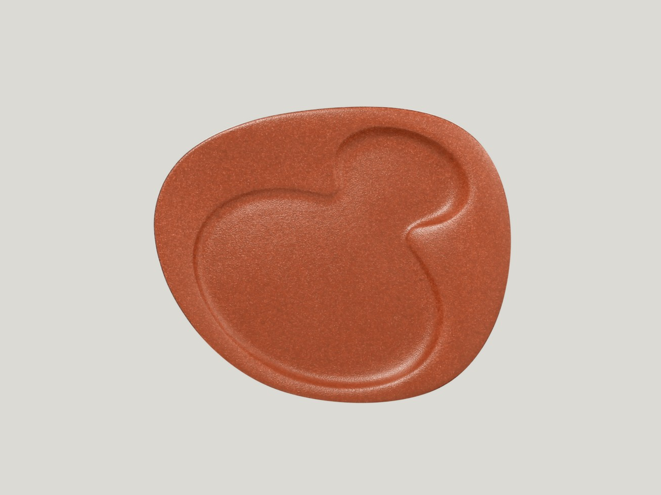 Breakfast talíř - 2 basins - hnědá Neofusion