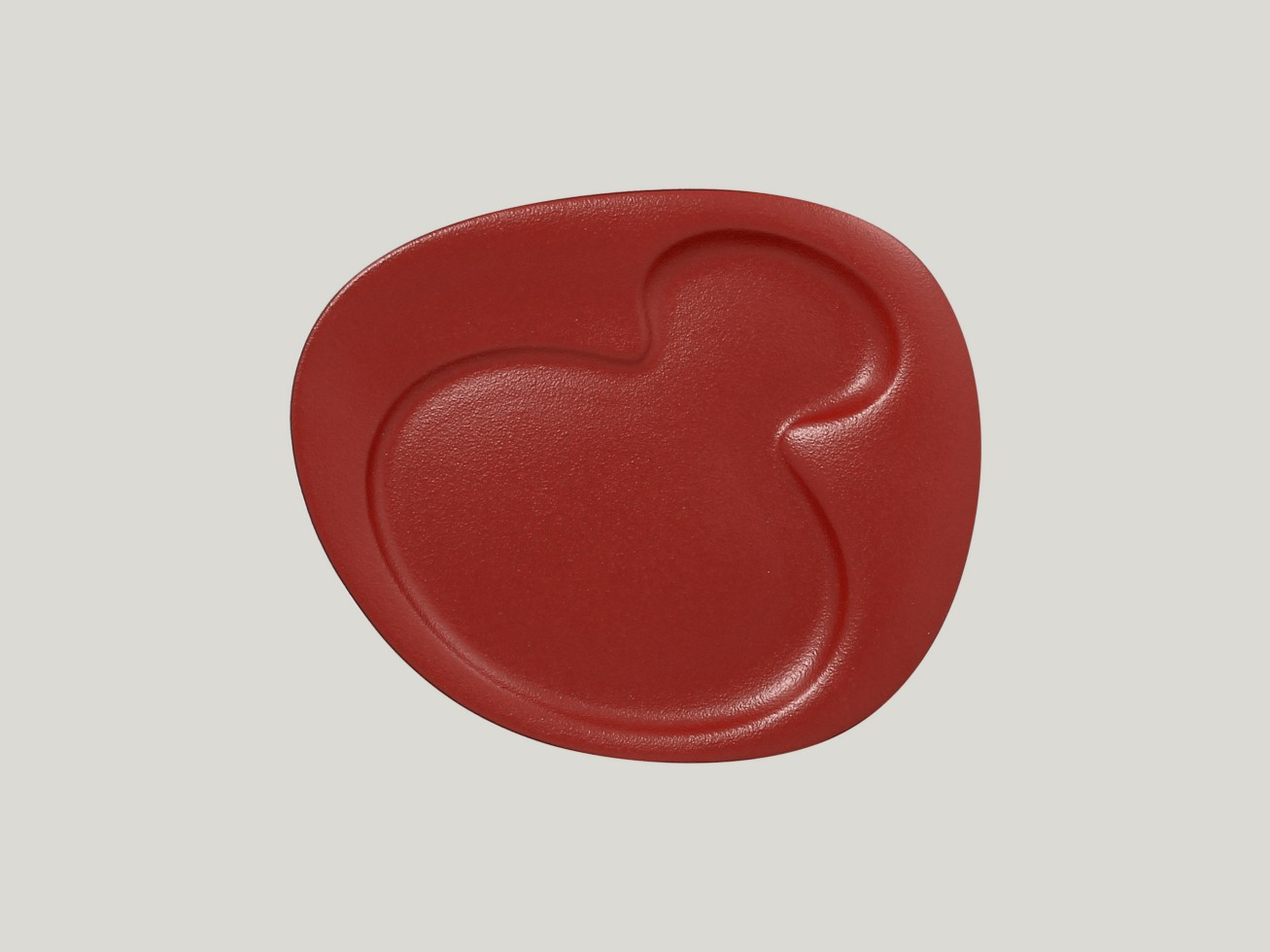Breakfast talíř - 2 basins - tmavě červená Neofusion
