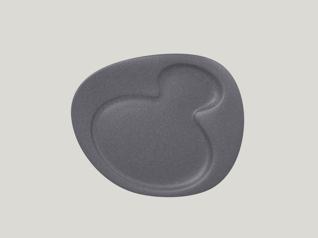 Breakfast talíř - 2 basins - šedá Neofusion