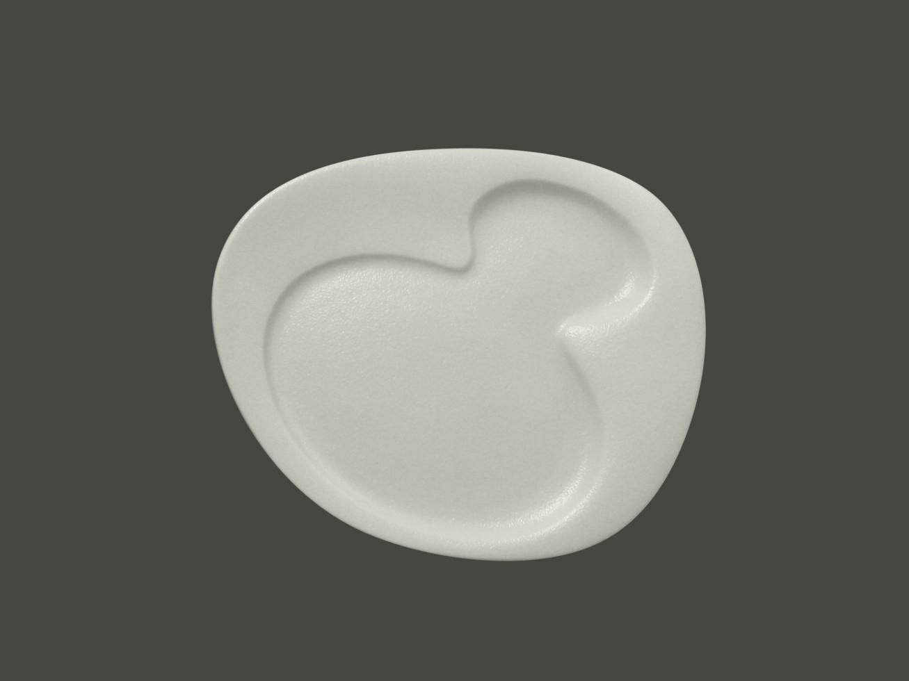 Breakfast talíř - 2 basins - bílá Neofusion