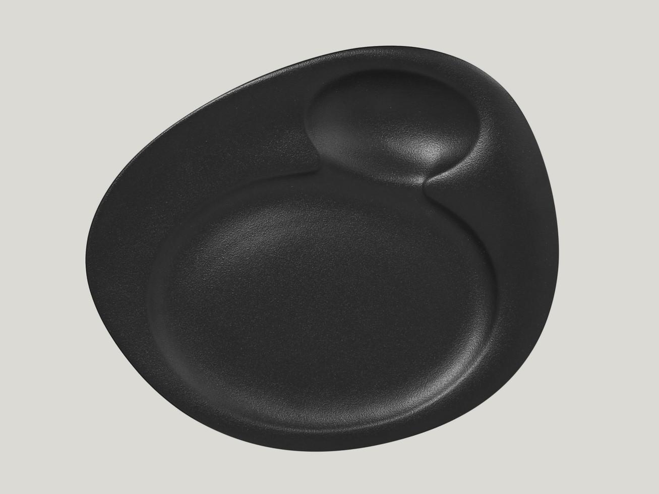 Dinner talíř - 2 basins - černá Neofusion