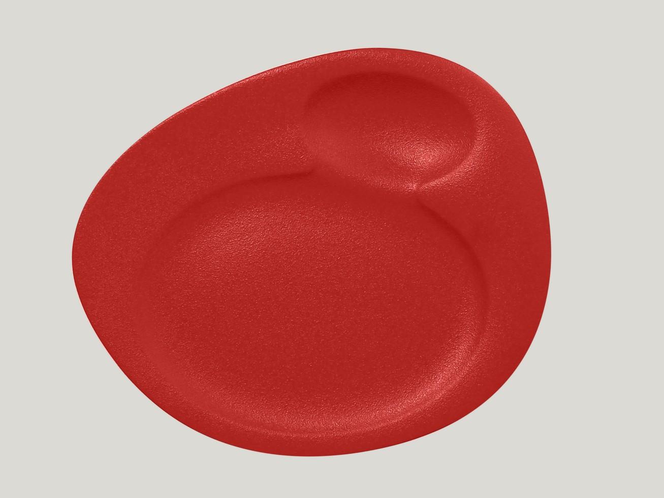 Dinner talíř - 2 basins - světle červená Neofusion
