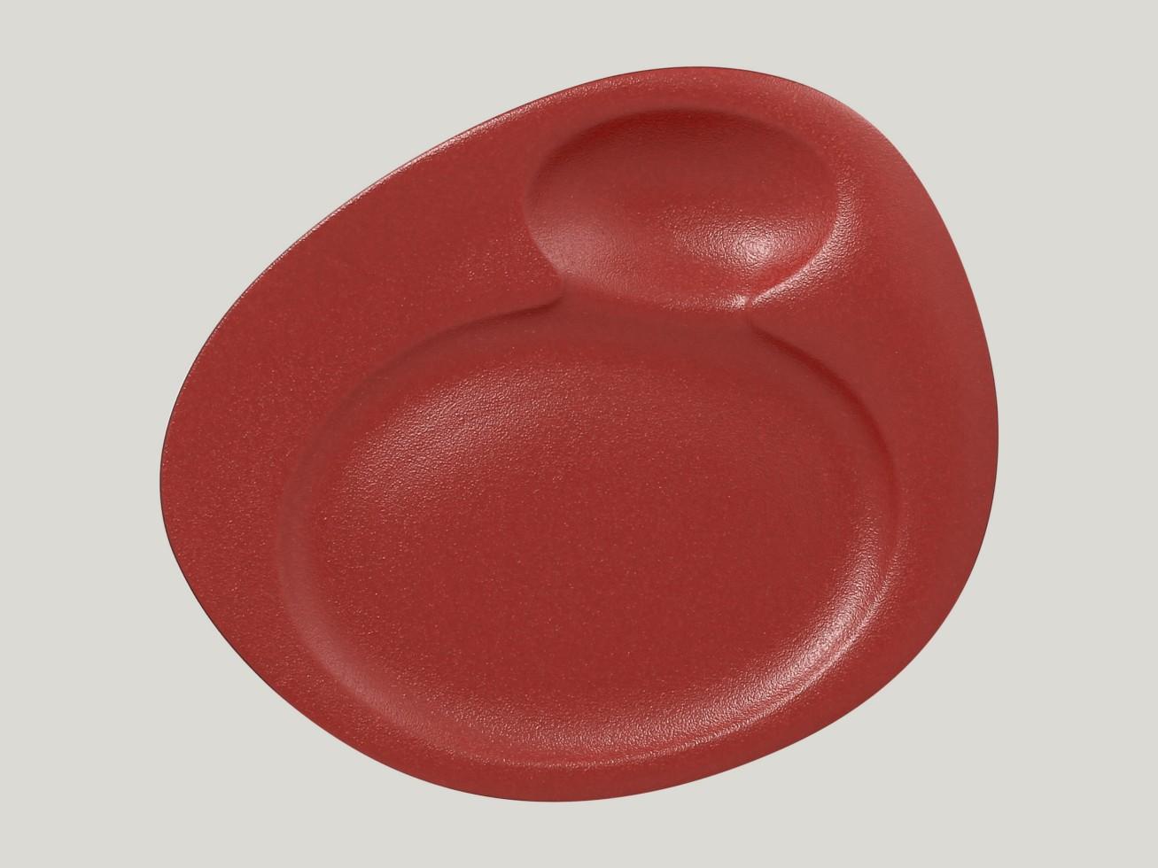 Dinner talíř - 2 basins - tmavě červená Neofusion