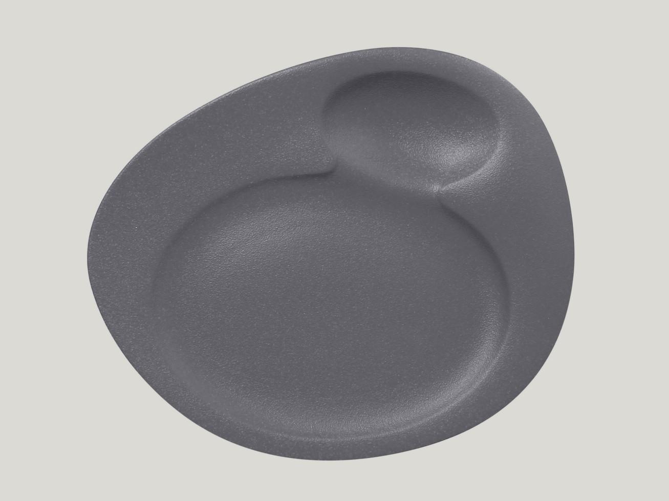 Dinner talíř - 2 basins - šedá Neofusion