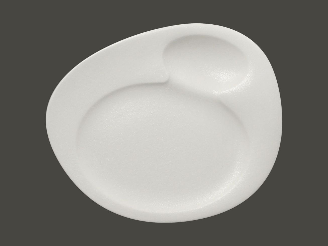 Dinner talíř - 2 basins - bílá Neofusion