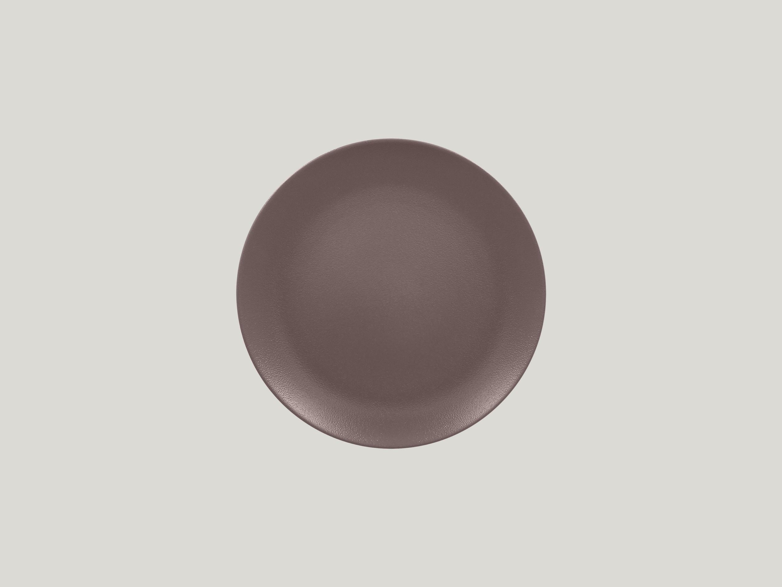 Talíř mělký 21 cm - hnědá