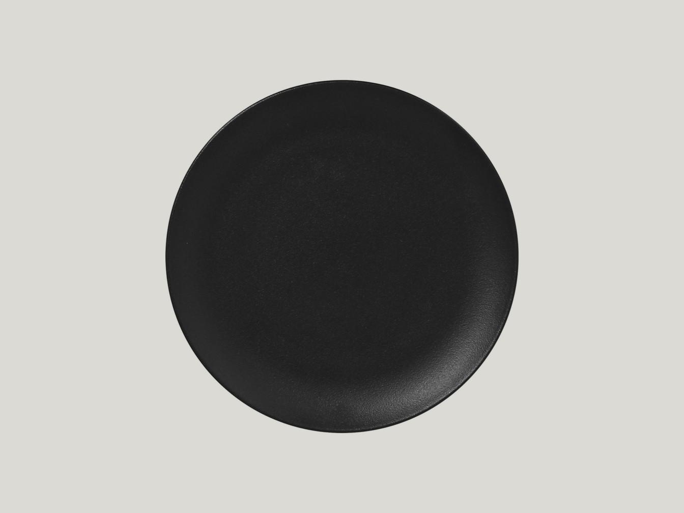 mělký coupe talíř - černá Neofusion