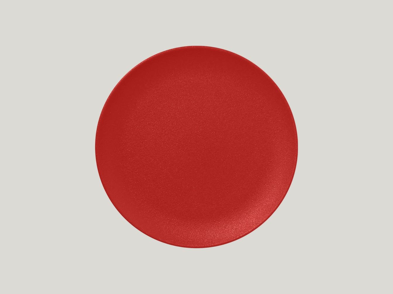 mělký coupe talíř - světle červená Neofusion