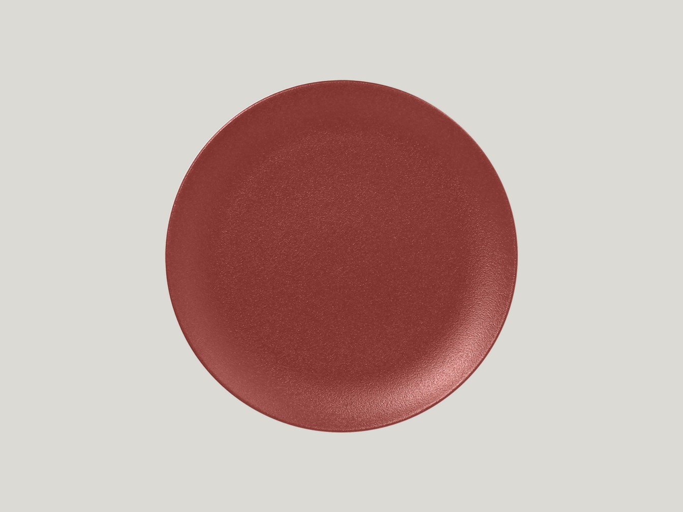mělký coupe talíř - tmavě červená Neofusion