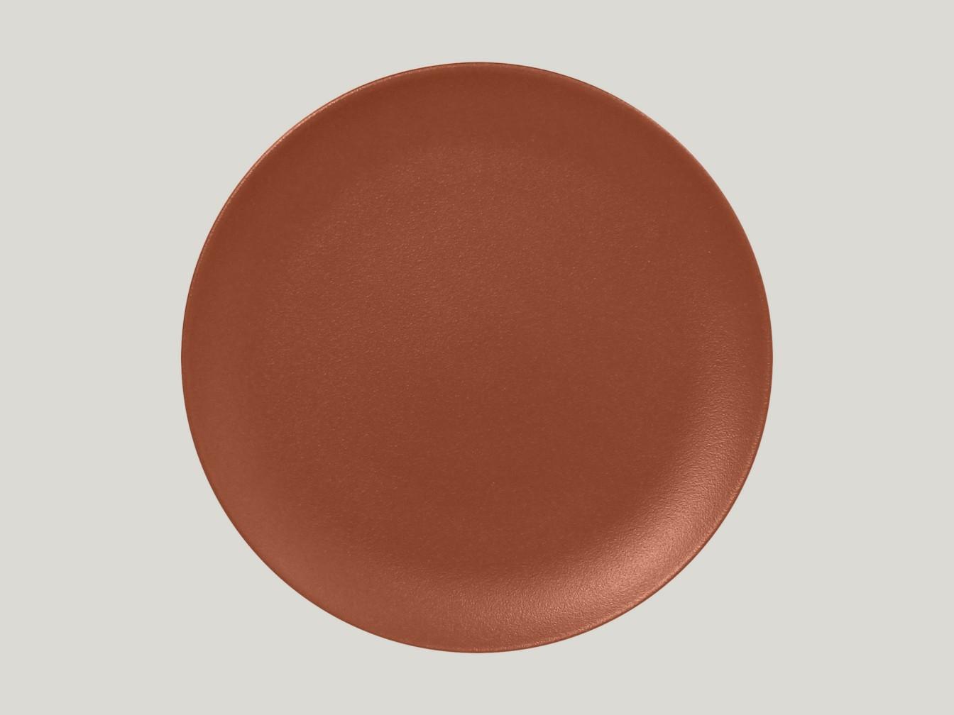 mělký coupe talíř - hnědá Neofusion