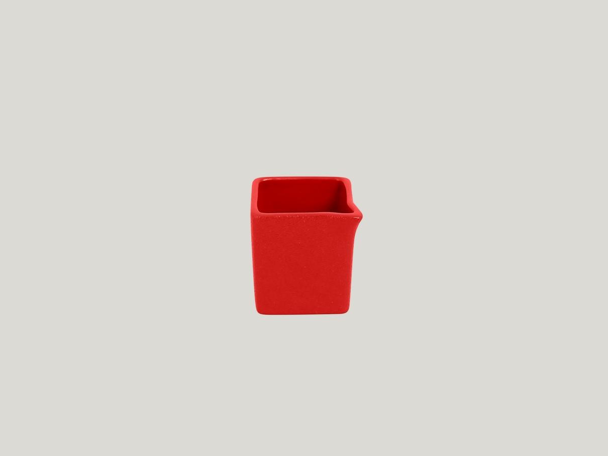 Čtvercový Omáčník/gravy boat - světle červená Neofusion