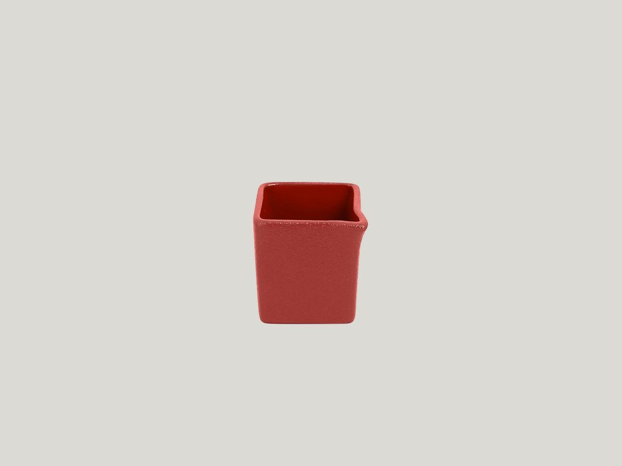 Čtvercový Omáčník/gravy boat - tmavě červená Neofusion