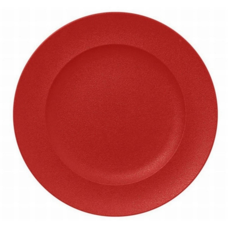 Talíř mělký kulatý 33cm - světle červená