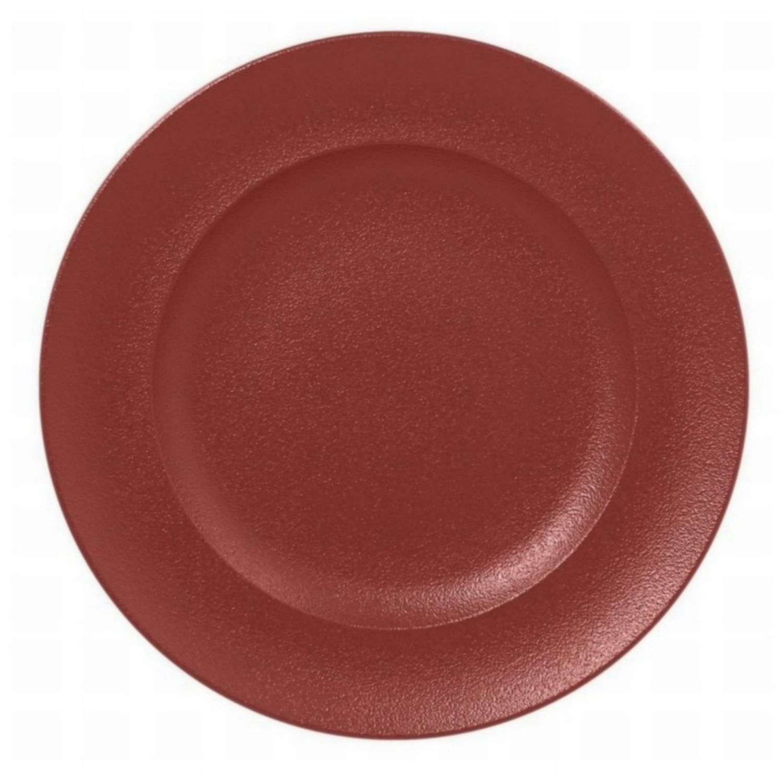 Talíř mělký kulatý 33cm - tmavě červená