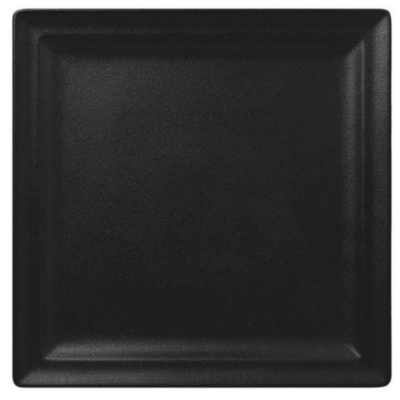 Talíř mělký čtvercový 30cm - černá