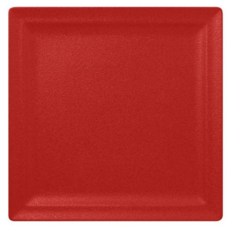 Talíř mělký čtvercový 30cm - světle červená