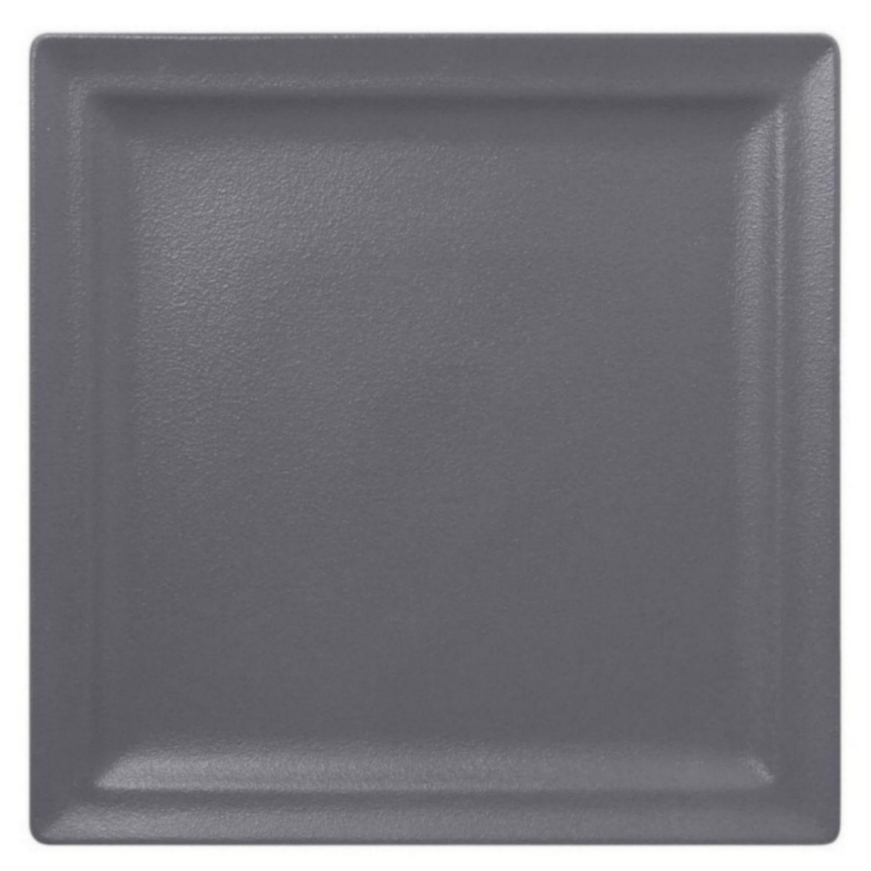 Talíř mělký čtvercový 30cm - šedá