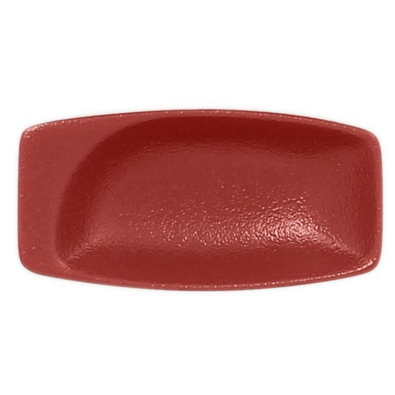 Miska obdélná - tmavě červená