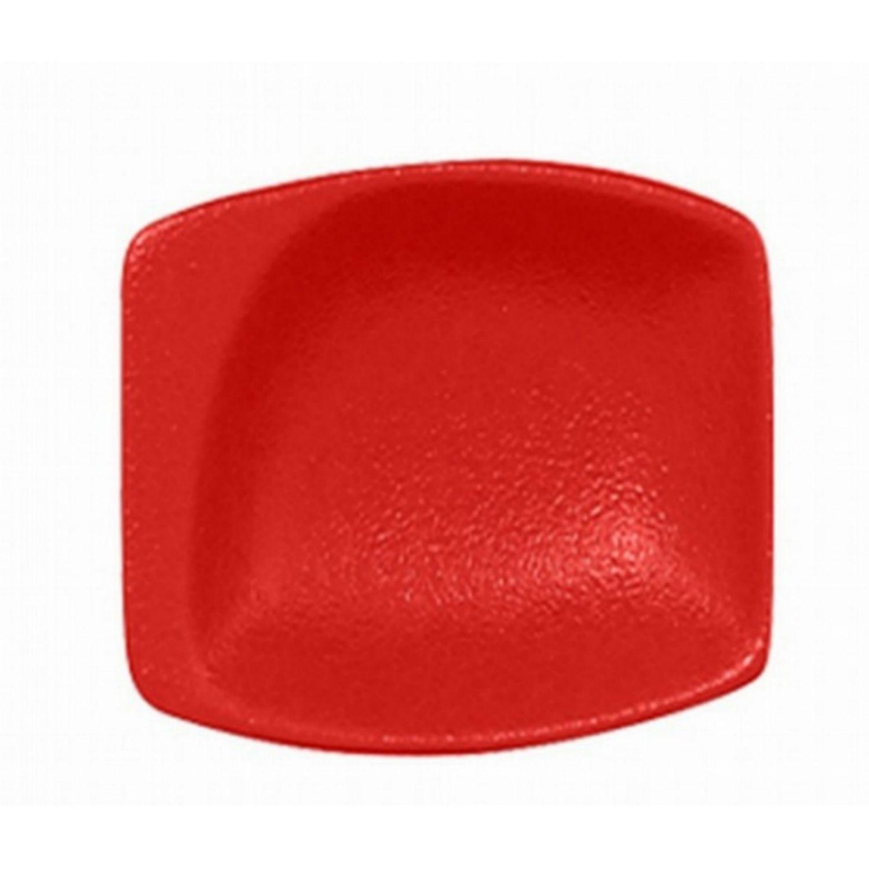 Neofusion talíř malý čtvercový 8 cm - světle červená