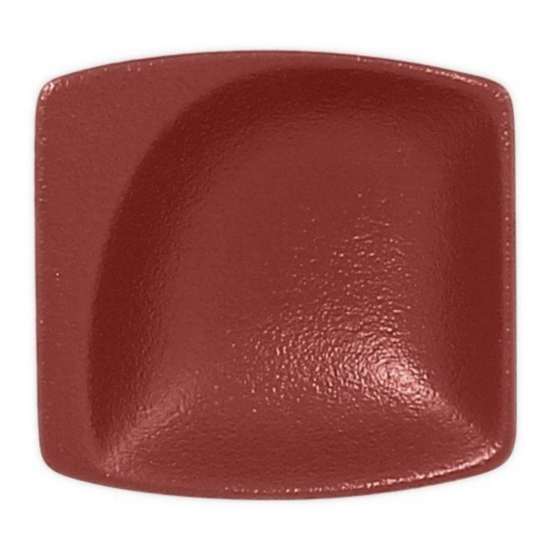 Neofusion talíř malý čtvercový 8 cm - tmavě červená