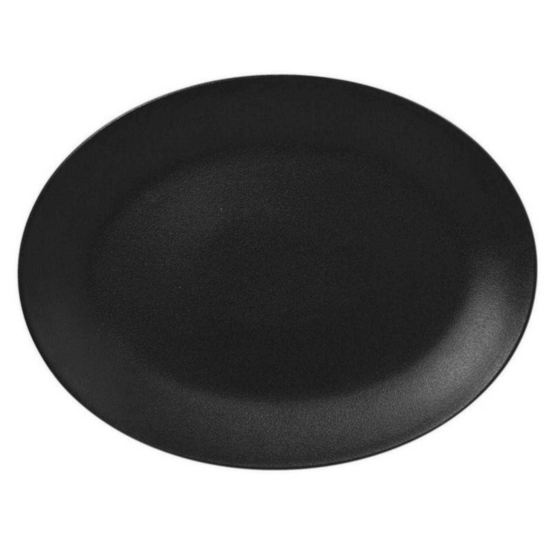 Talíř oválný 36 x 27 cm - černá