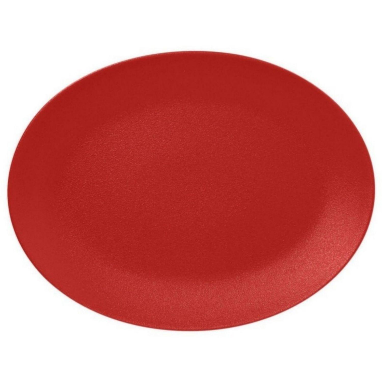 Talíř oválný 36 x 27 cm - světle červená