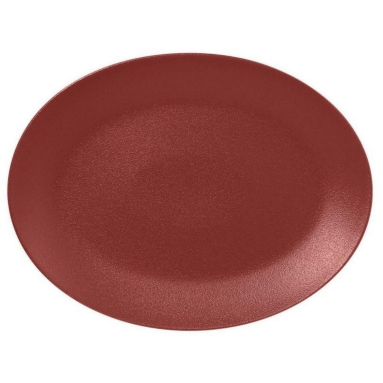 Talíř oválný 36 x 27 cm - tmavě červená